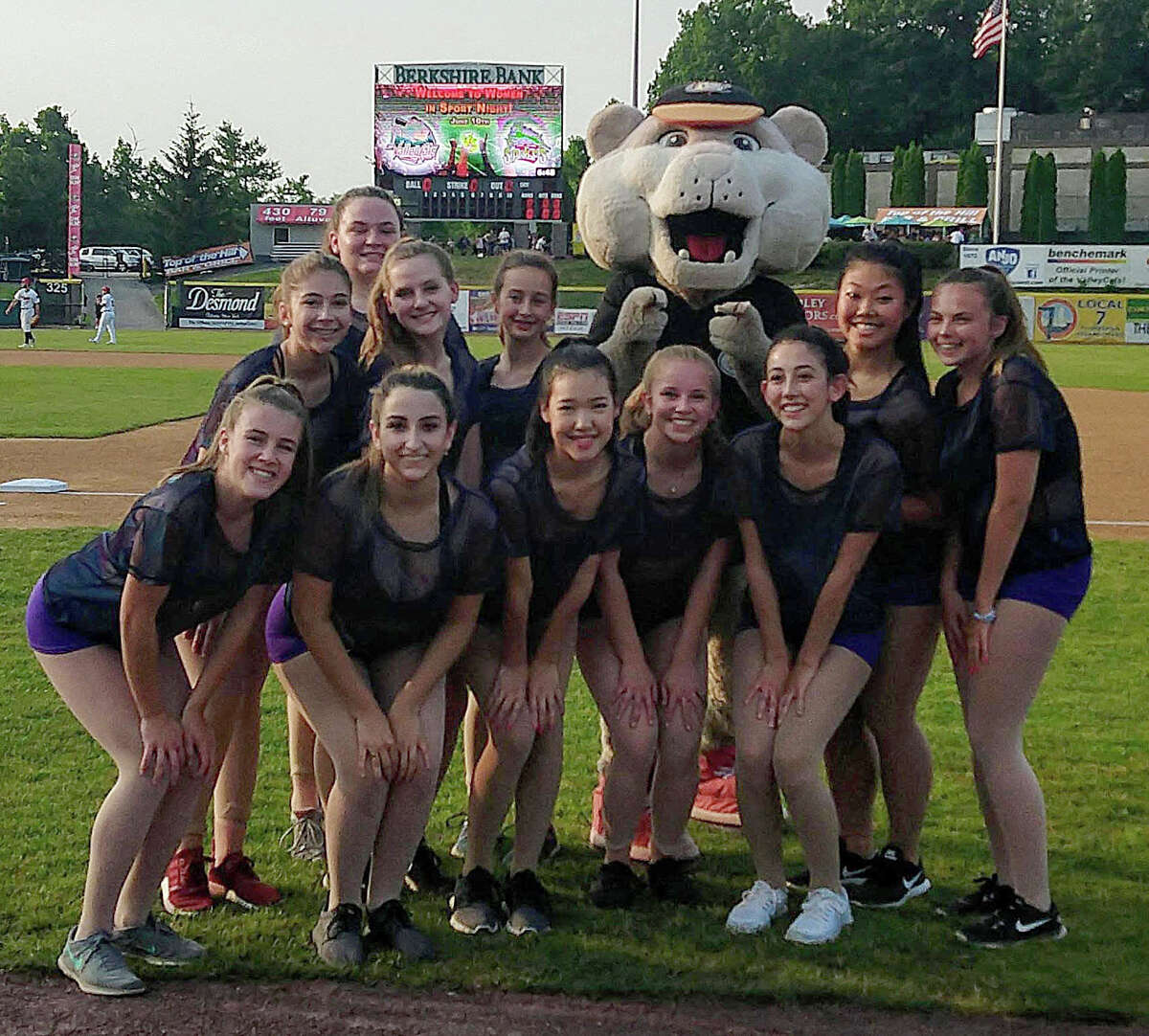The Baker School of Dance Performance Team at a Tri-City ValleyCats game in 2019. (Provided)