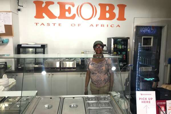 Chef-owner Kelechi Nwagboso of Keobi at her Lark Street restaurant in Albany.