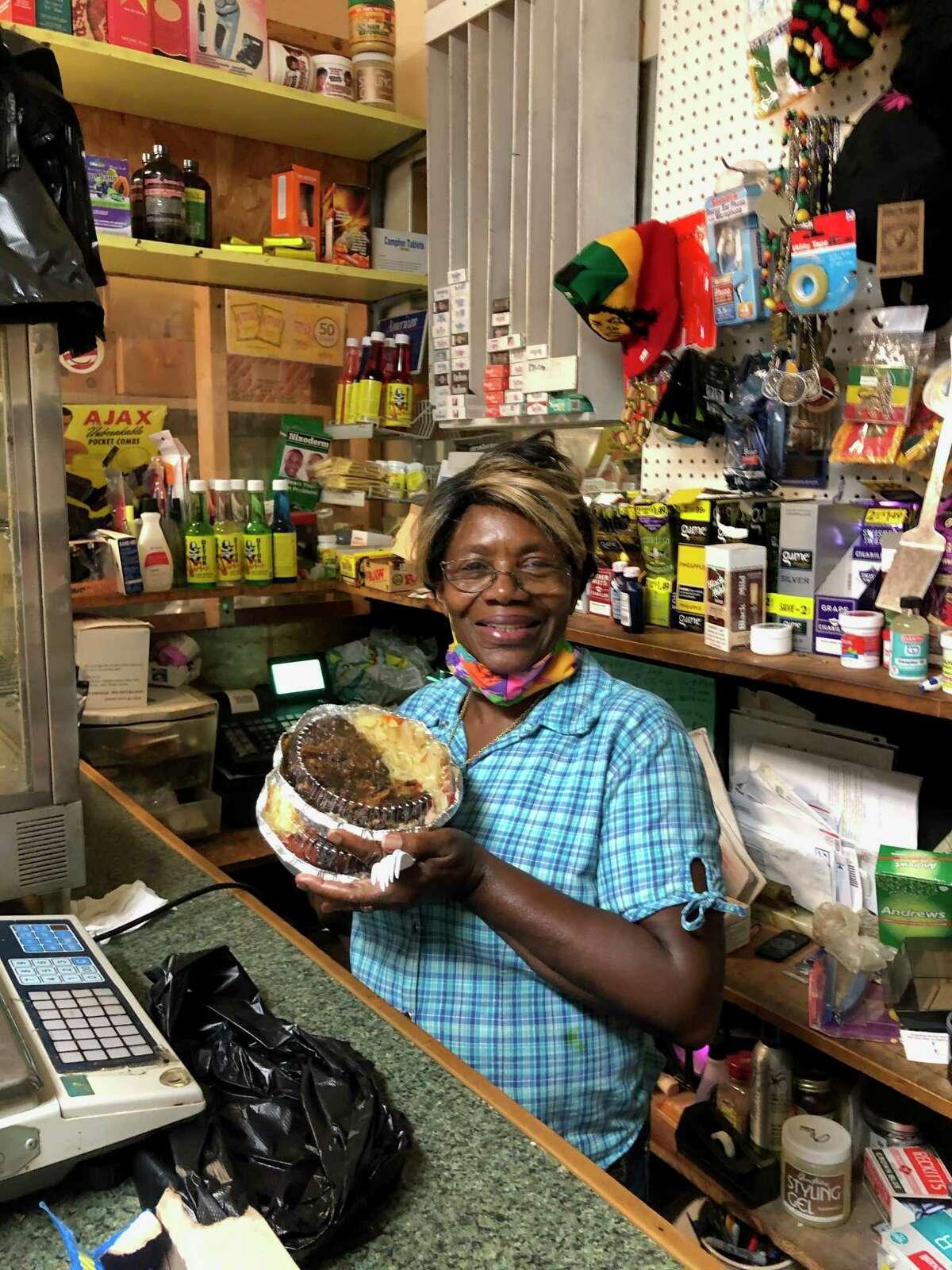 Paulette Clark at the West Indies Natural Food market.