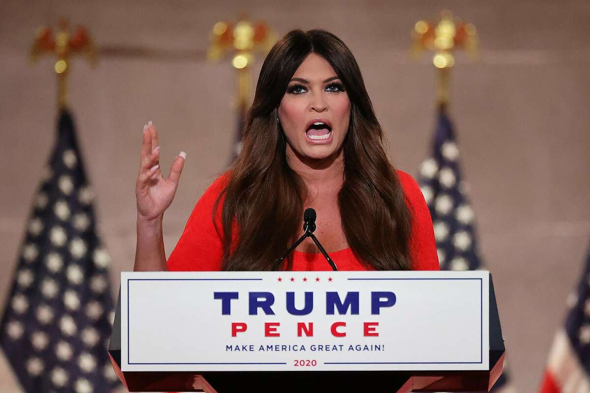 Kimberly Guilfoyle pre-records her address to the Republican National Convention at the Mellon Auditorium on Aug. 24, 2020 in Washington, D.C. (Chip Somodevilla/Getty Images/TNS)
