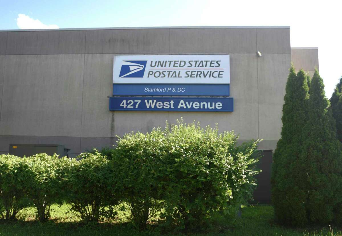 The U.S. Post Office on West Avenue in Stamford, Conn., photographed on Tuesday, Aug. 18, 2020.