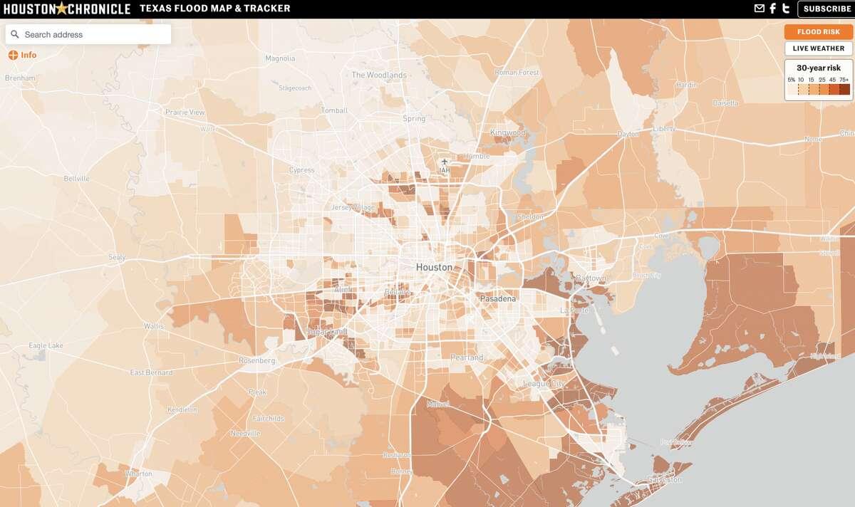The Houston Chronicle's Flood Map & Tracker