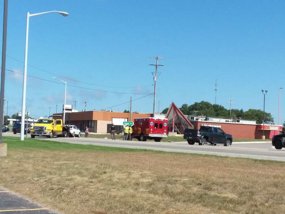 Responders were on scene at a crash that closed U.S. 31 for about 30 minutes on Tuesday afternoon. Photo: Michelle Graves/News Advocate