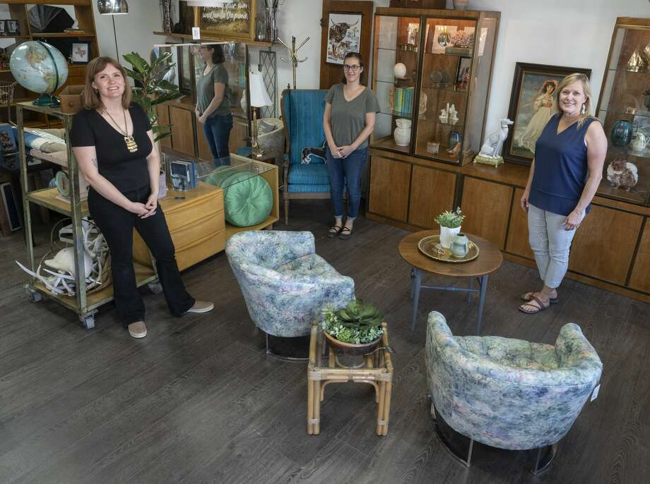 Kristen Covington, from left, is co-owner of Found Furnishings with her aunt, Sari Smith; and mother, Jeannie Eads. Photo: Tim Fischer/Midland Reporter-Telegram