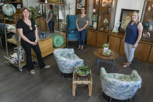 Kristen Covington, from left, is co-owner of Found Furnishings with her aunt, Sari Smith; and mother, Jeannie Eads.