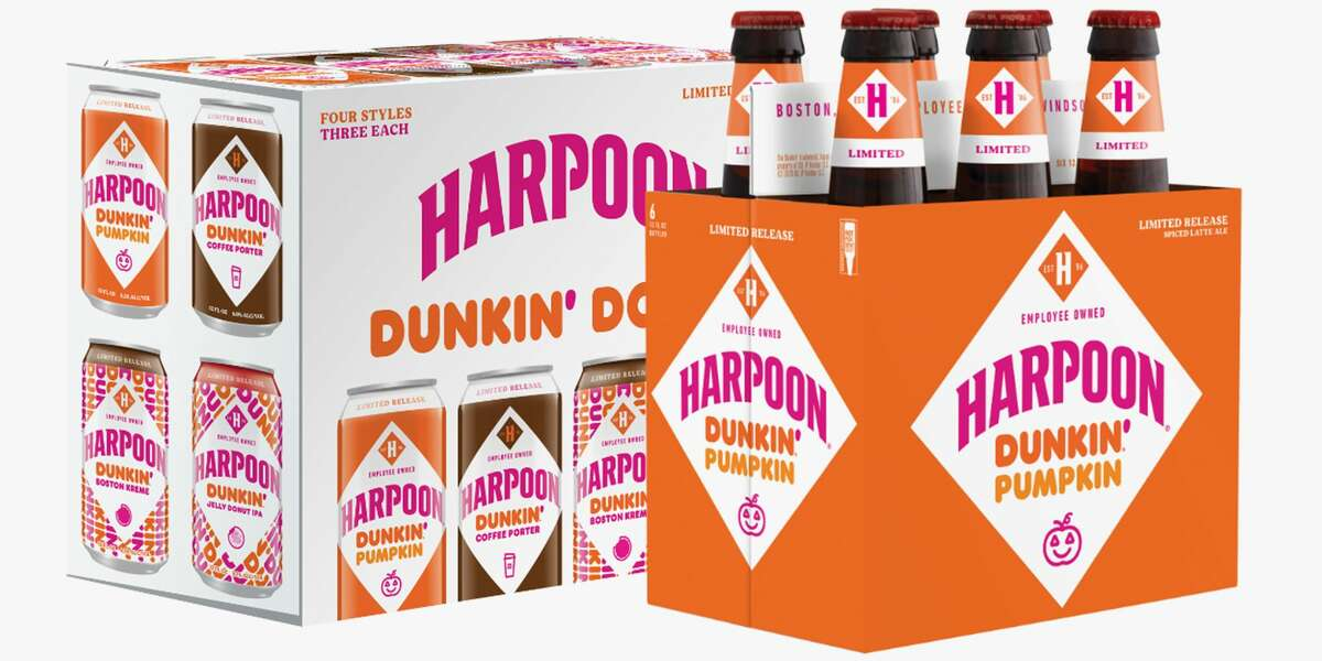 Dunkin' and Harpoon Are Releasing 3 New Beers: The latest collaboration between Dunkin' and Harpoon has resulted in three new brews: Pumpkin, Boston Kreme, and Jelly Donut. In addition, the Harpoon Dunkin' Coffee Porter is back.