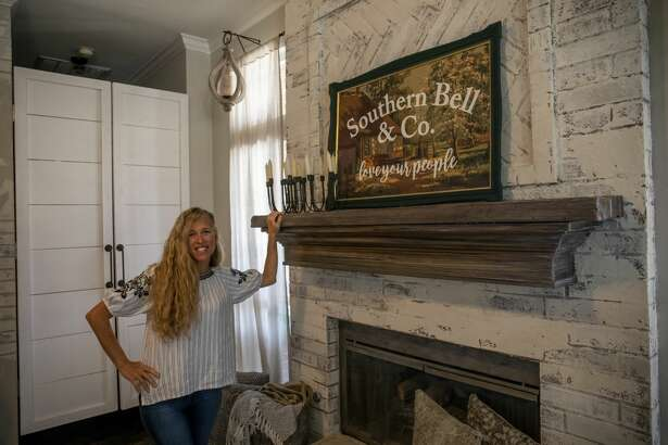 Brandy Bell the creator of Southern Bell and Company is developing a TV show about West Texas and the people who call it home. Bell poses by a sign that says Southern Bell & Co. Monday, July 20, 2020 at her home in Midland, Texas. Jacy Lewis/Reporter-Telegram