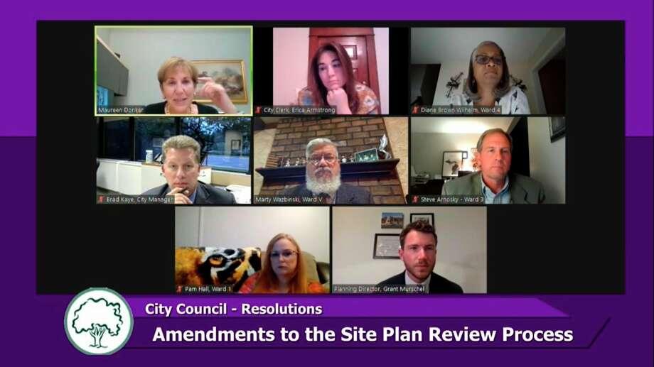 Midland City Council met virtually on Monday, Aug. 24, 2020. (Screen photo/MCTV)