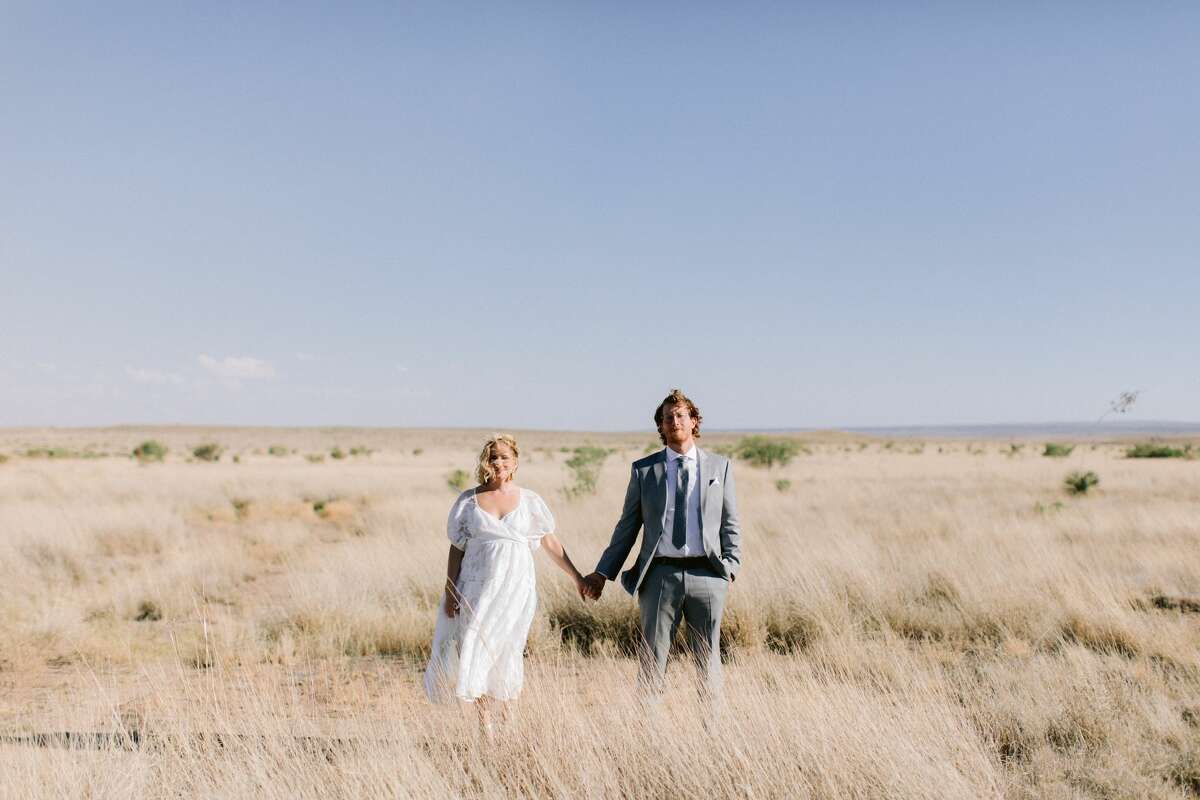 Jona Christina Davis has started an elopement and micro-wedding service with other businesses in Marfa, Texas to help keep the community safe while continuing to work. Jona Christina