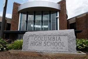 Exterior of Columbia High School on Tuesday, Aug. 25, 2020, in East Greenbush, N.Y. . (Will Waldron/Times Union)