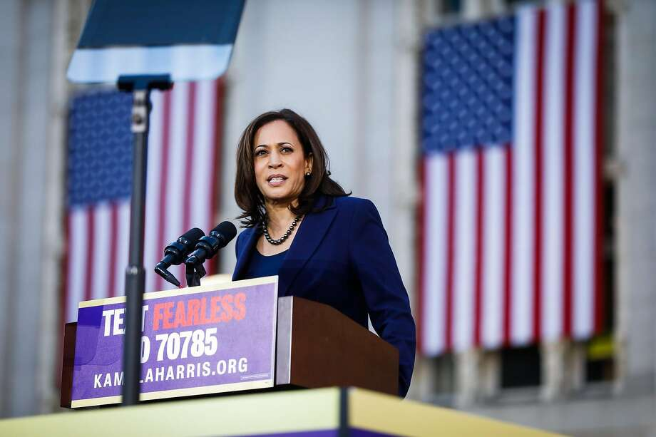 Senator Kamala Harris makes her first presidential campaign speech at a rally in her hometown of Oakland, California, on Sunday, Jan. 27, 2019. Photo: Gabrielle Lurie / The Chronicle