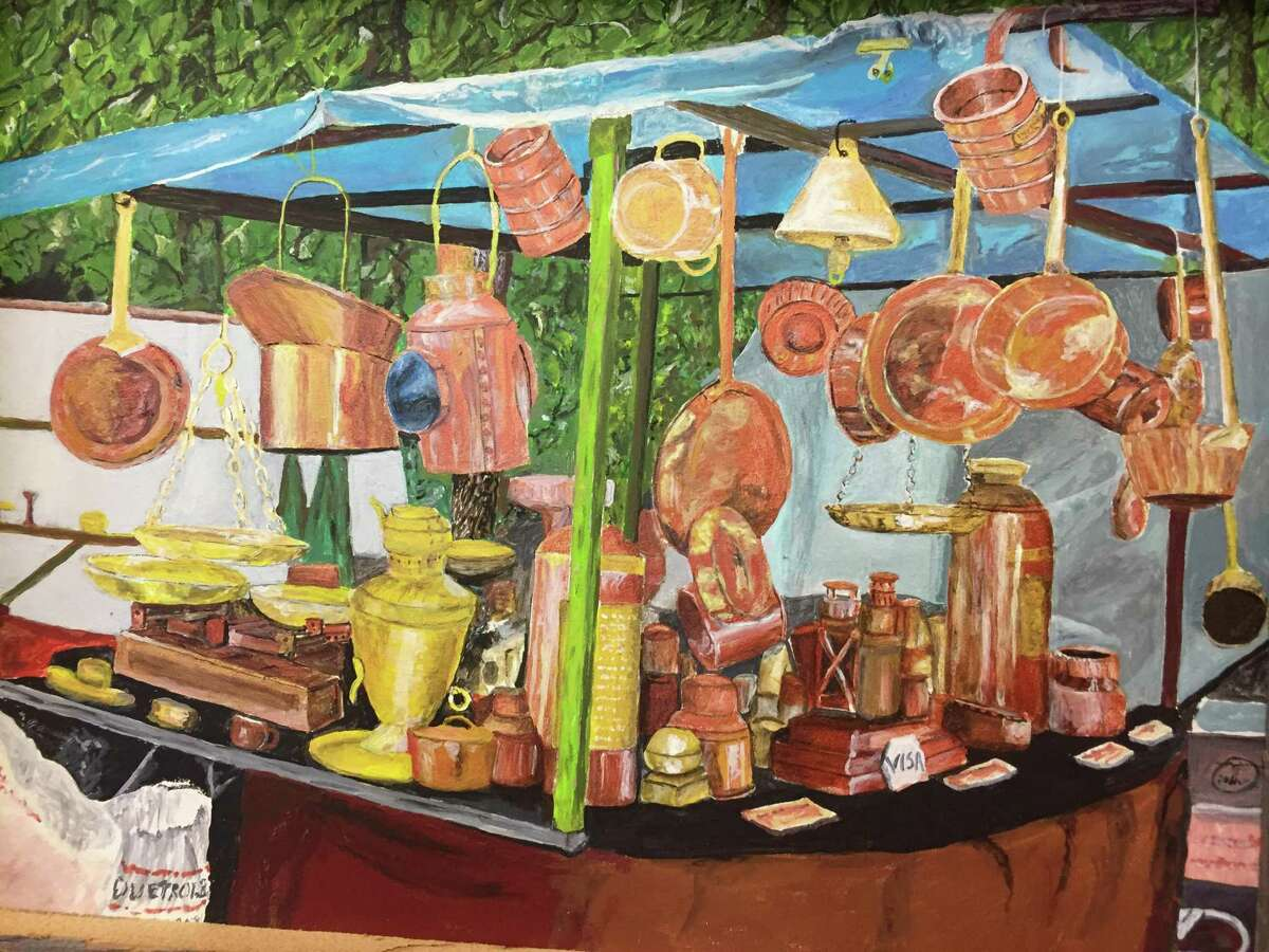 """Kent Memorial Library is presenting an exhibit, """"Kent and Around Travel,"""" by Kent artist Michael Danon through Aug. 31. Above is one of Danon's pieces. For more information, call the Main Street library at 860-927-3761."""