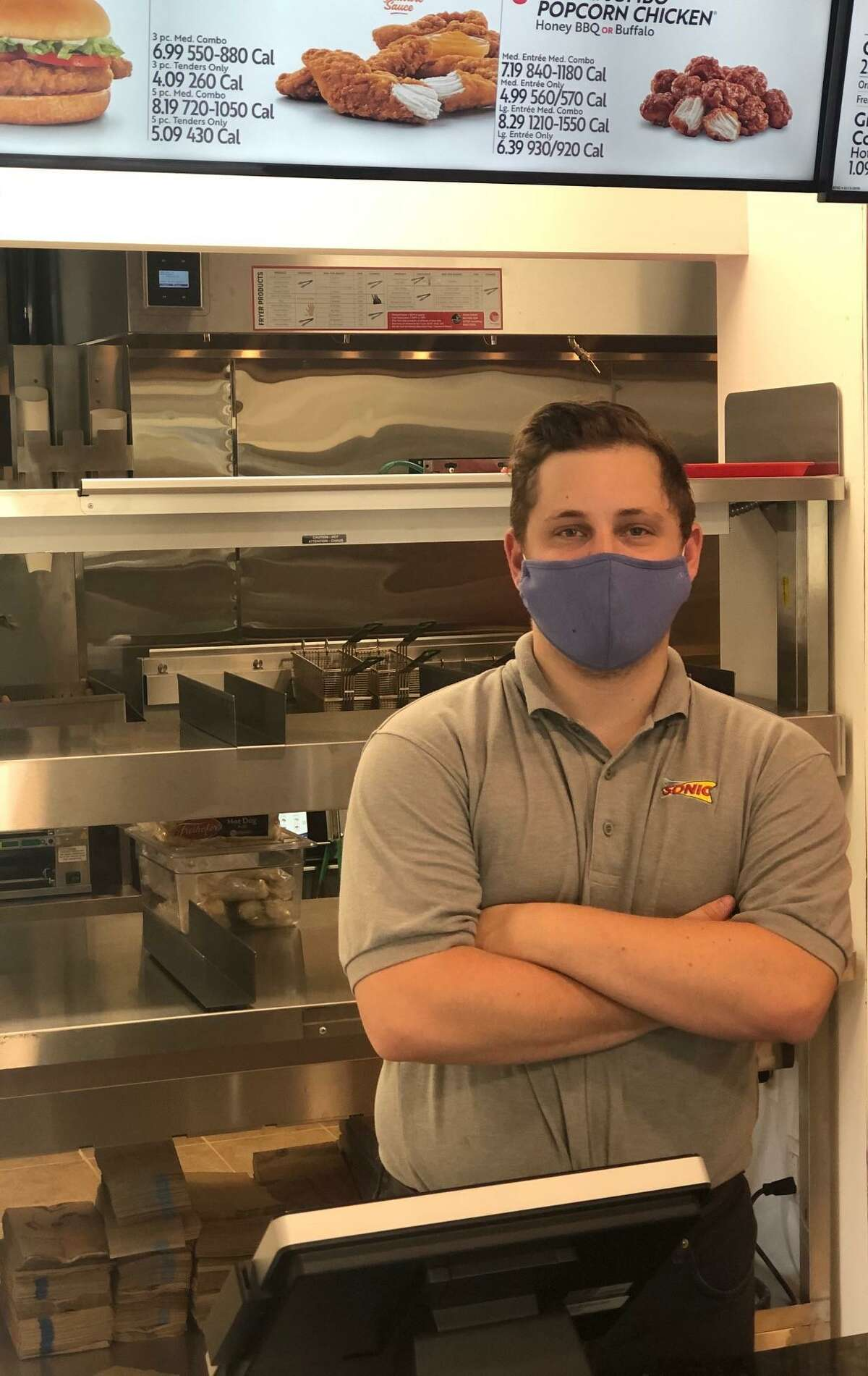 Nik Berney of New Milford is general manager of the new Sonic at 291 Danbury Road in New Milford, which will open Saturday.