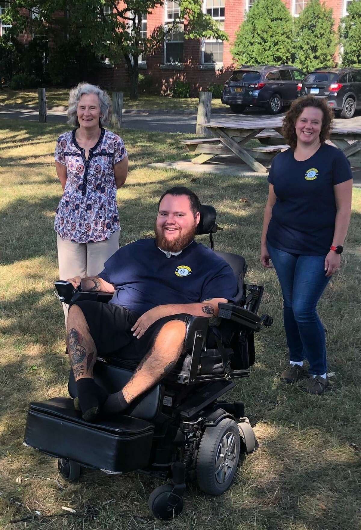 Sean Quigg of New Milford founded and is the director of the non-profit Wheels for Wheels, whose mission is to serve, uplift and mobilize the disabled community through advocacy, education and realized successes that foster compassion and advance accessibility. Quigg is shown above with Kathy Castagnetta, secretary, left, and Jeannette Hicks, vice chair.