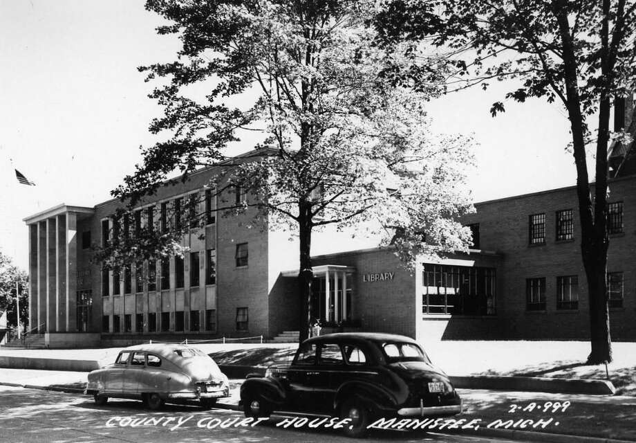 The Manistee County Courthouse and County Library in the early 1950s. (Manistee County Historical Museum photo)