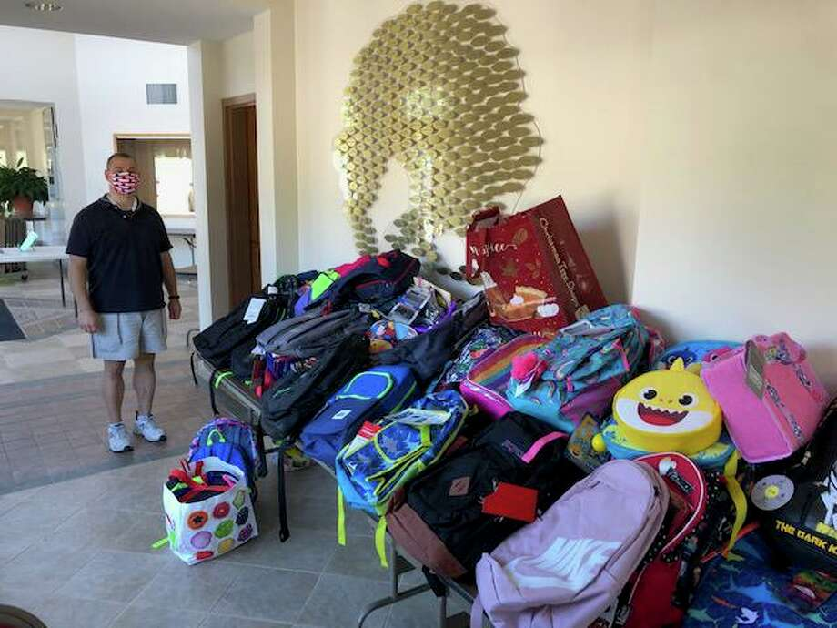 Saint Catherine of Siena Parish provided backpacks and school supplies for Bridgeport students this fall. Photo: Contributed Photos