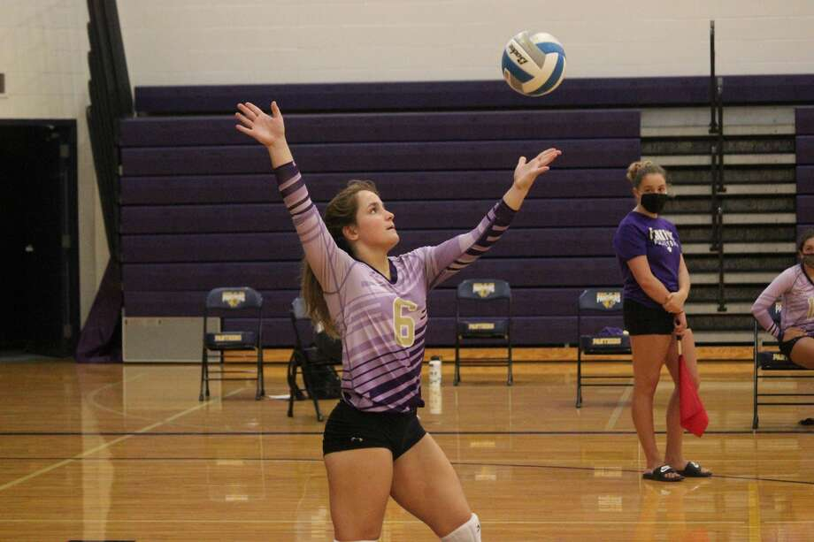 Frankfort's varsity volleyball team opened its season on Aug. 25 with matches against Grayling and Forest Area in a modified version of the annual Frankfort Invitational. Photo: Robert Myers