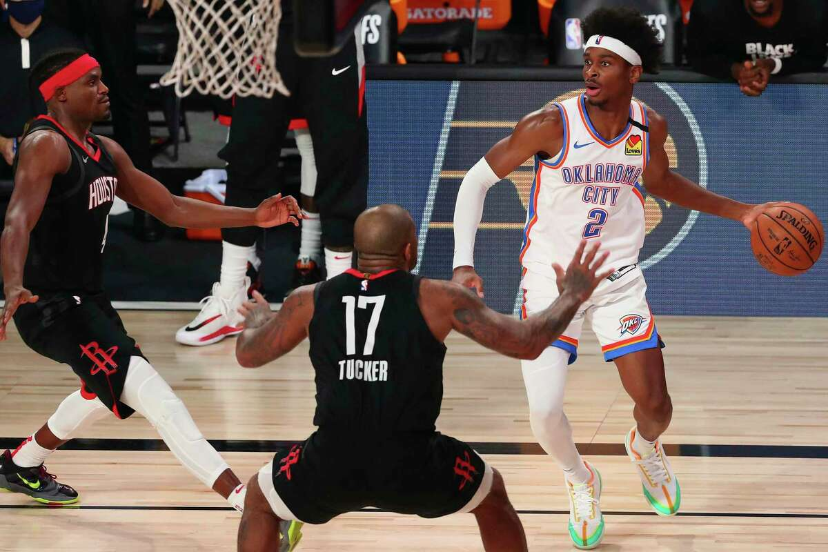 Oklahoma City Thunder guard Shai Gilgeous-Alexander played 44 minutes in Game 4 and wants to play more if it helps his team beat the Rockets.