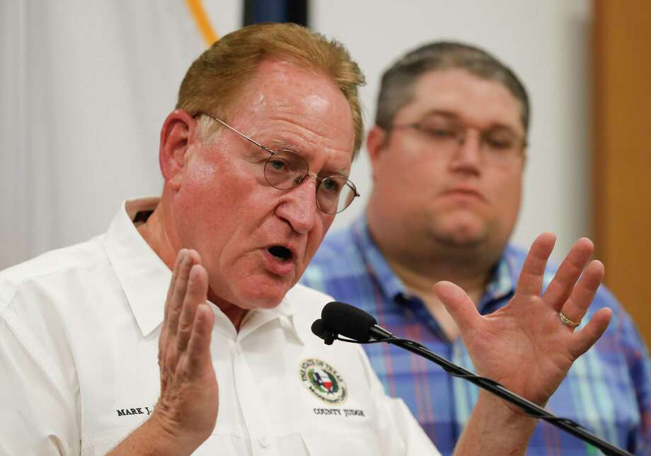 Montgomery County Judge Mark Keough speaks during a press conference at Montgomery County braces for Hurricane Laura, Tuesday, Aug. 25, 2020, in Porter. Photo: Jason Fochtman, Houston Chronicle / Staff Photographer / 2020 © Houston Chronicle