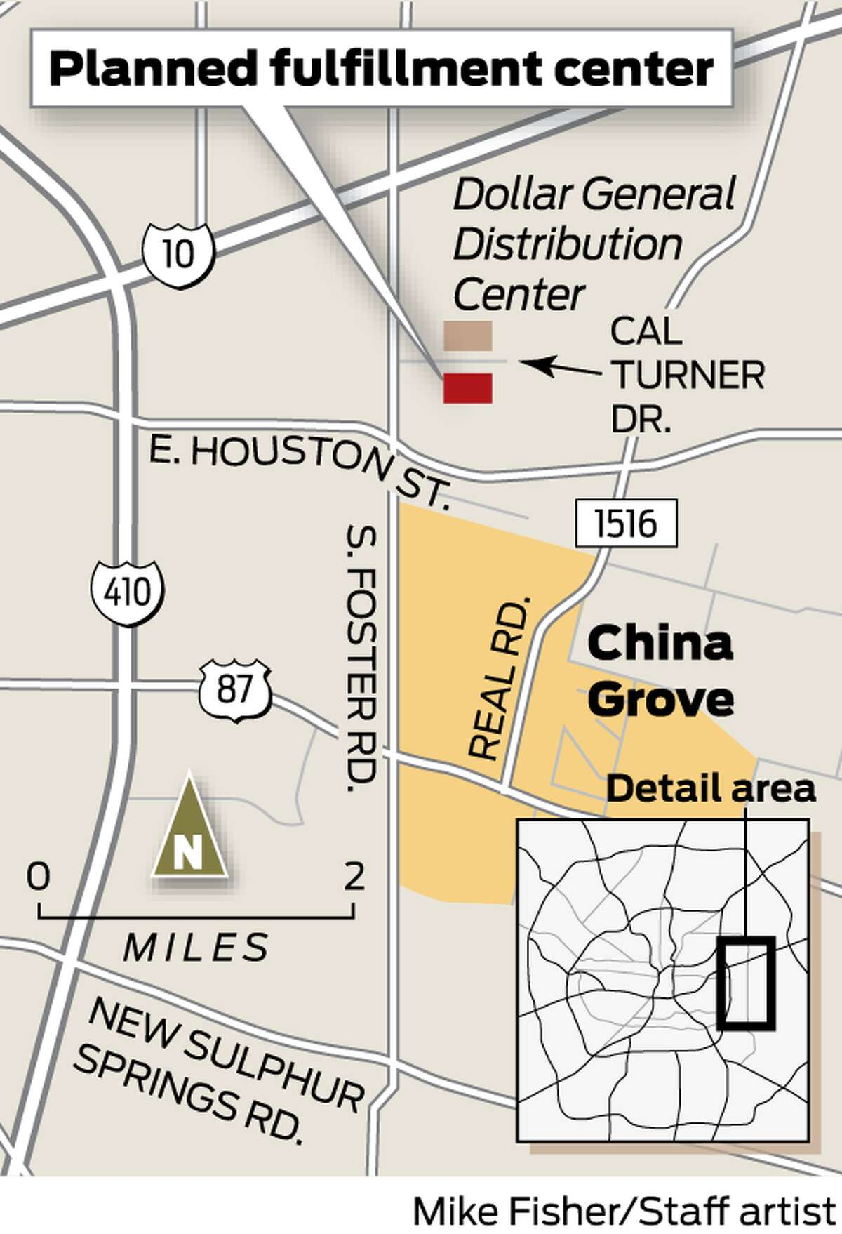 A massive industrial center is in the works in East Bexar County.