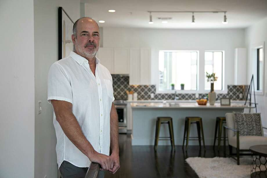 Steve Yndo stands in a model home at SOJO Commons, a townhome project he partnered with SOJO Urban Development for, in San Antonio on Tuesday, August 18, 2020. Photo: Lisa Krantz, Staff / Staff Photographer / San Antonio Express-News