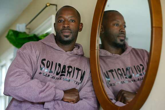 Thornell Washington is seen at his home in Oakland, Calif. on Tuesday, Aug. 25, 2020.