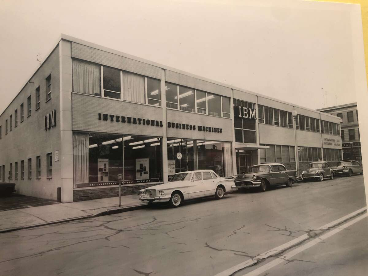 Historic photos of the corner of Franklin and Jay streets, Schenectady.