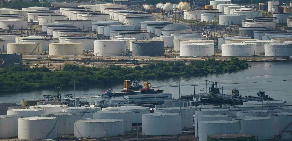 Chemical tanks like these are seen all around Houston.