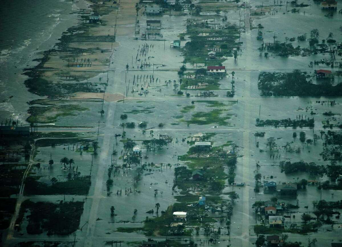 Damage after the passing of Hurricane Ike is seen Saturday, Sept. 13, 2008, in Bolivar, Texas. ( Smiley N. Pool / Chronicle )