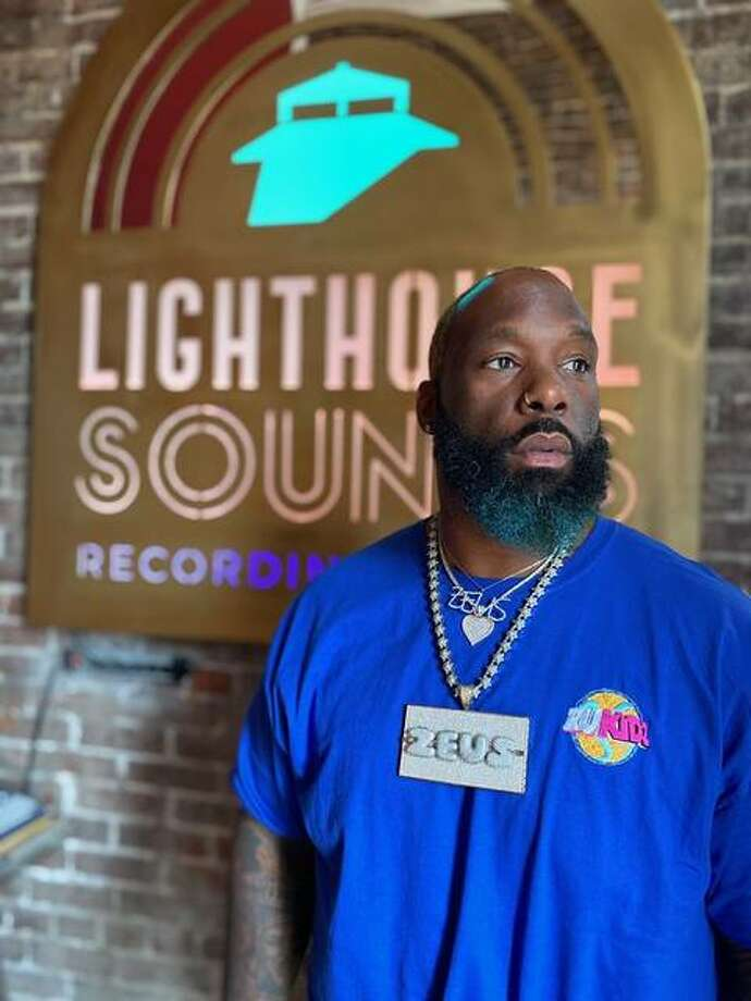 Byron Waters, a k a Zeus Rebel Waters, of St. Louis, at Lighthouse Sounds Studio in Alton. Photo: For The Telegraph