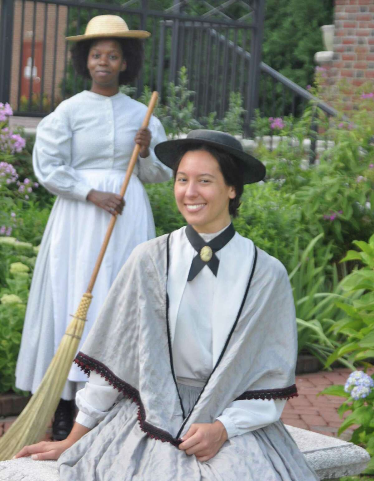 Sisters focuses on the relationship between Anna Marie Resseguie, played by Catherine Luciani, and Phillis DuBois, played by Valerie Brookshire, who together ran the Ressequie Hotel for most of the 19th Centuryin the building that is today the Keeler Tavern Museum.