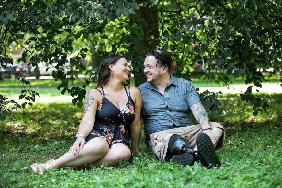 Cassandra Steele and Alex Cappuccetti are engaged to be wed in June 2021. Photo: George Street Photo And Video / George Street Photo and Video