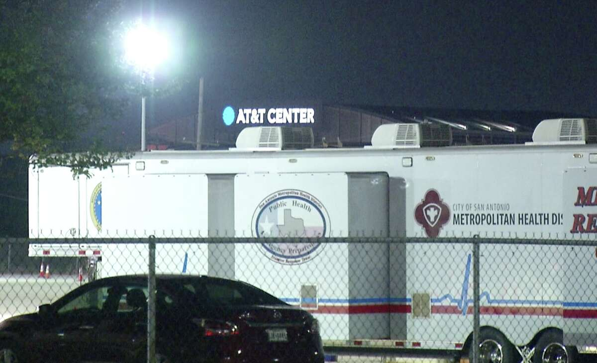 On Tuesday, an evacuation center opened in a parking lot on Gembler Road near the AT&T Center.