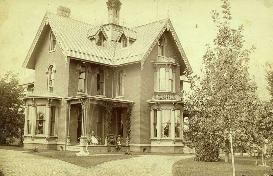 An exterior view of the E.Golden Filer mansion located in Filer Township. (Manistee County Historical Museum photo)