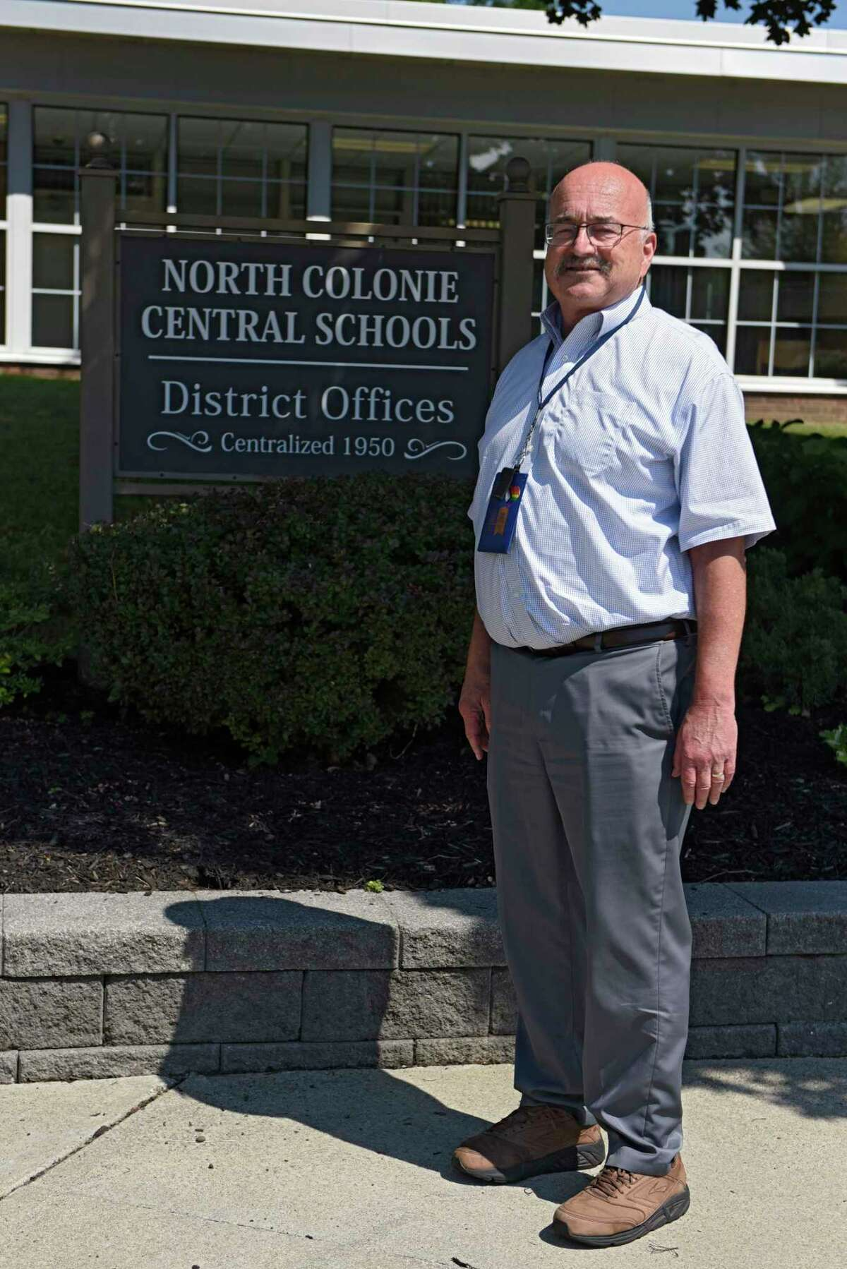 Dr. Joseph Corr stands outside the North Colonie District Office on Monday, Aug. 24, 2020 in Latham, N.Y. (Lori Van Buren/Times Union)
