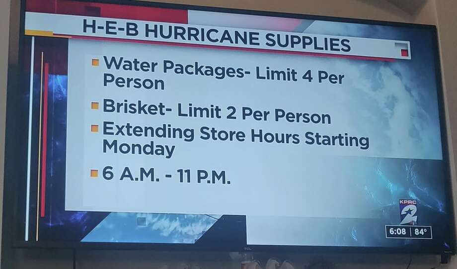 Twitter user @BBQBryan took to the platform to share an image of a quintessentially Texan hurricane supply list from H-E-B. Photo: @BBQBryan On Twitter