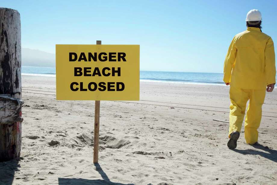 The swimming beach in Caseville is closed due to high E. coli levels Aug. 26. (File Photo)