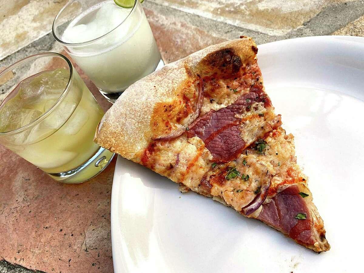 The Smoked Mozzarella pizza incorporates Benton's Country Ham, mozzarella cheese, hot sauce, onions and cilantro at Barbaro, an Italian restaurant, bar and pizzeria in Monte Vista.