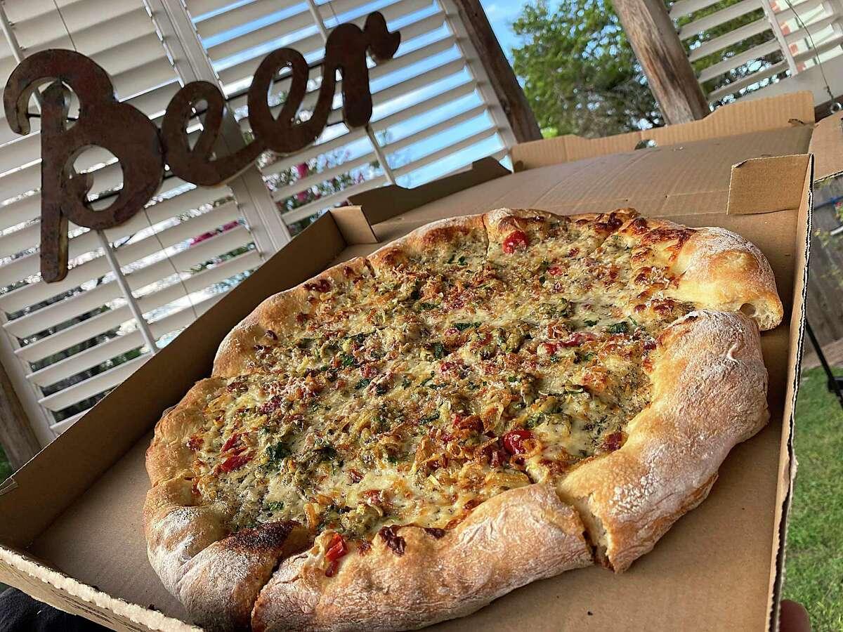 The Clams Casino pizza incorporates clams, bacon, white sauce, garlic, chiles and pecorino cheese at Barbaro, an Italian restaurant, bar and pizzeria in Monte Vista.