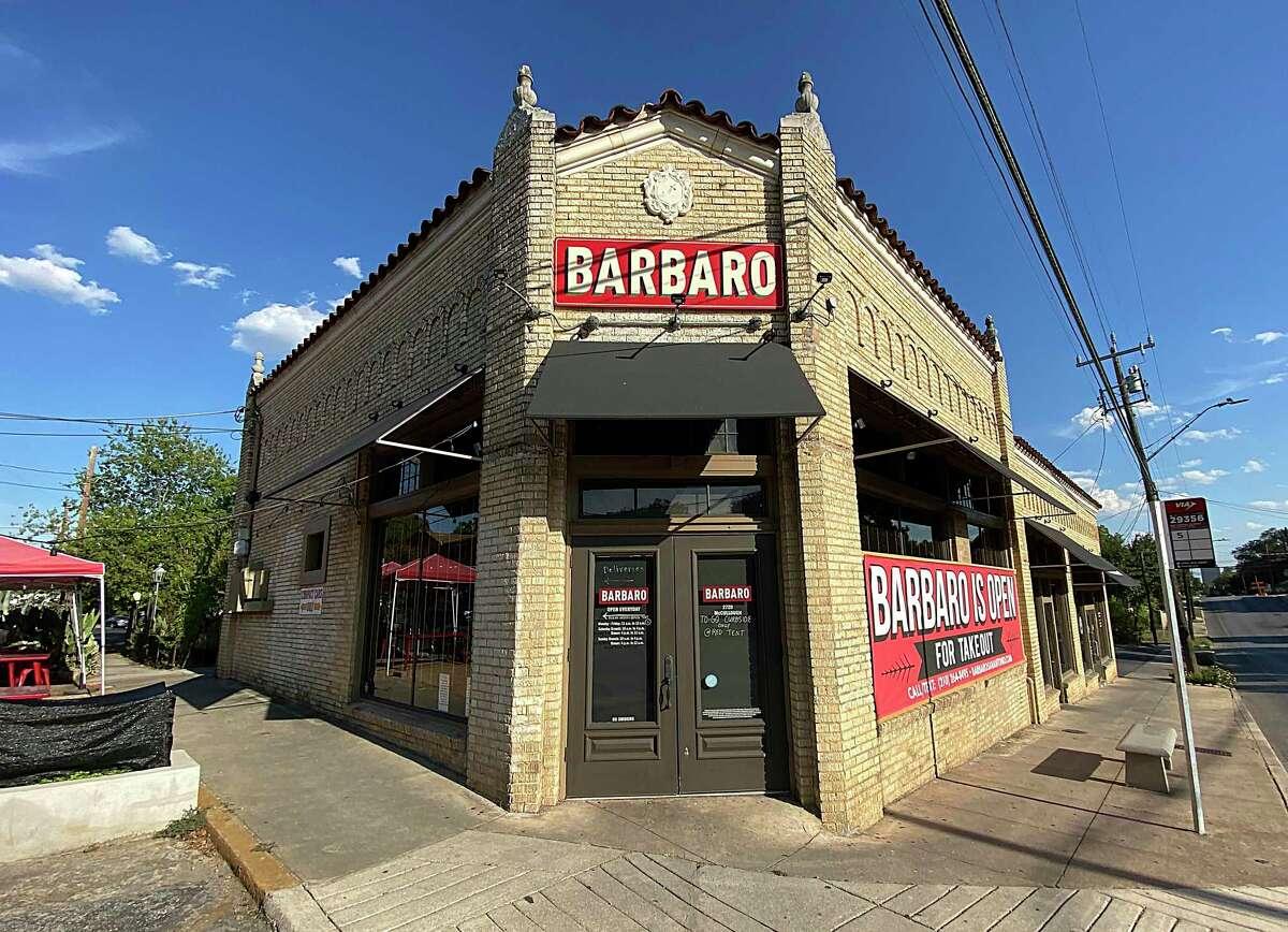 Barbaro is an Italian restaurant, bar and pizzeria on McCullough Avenue in Monte Vista.