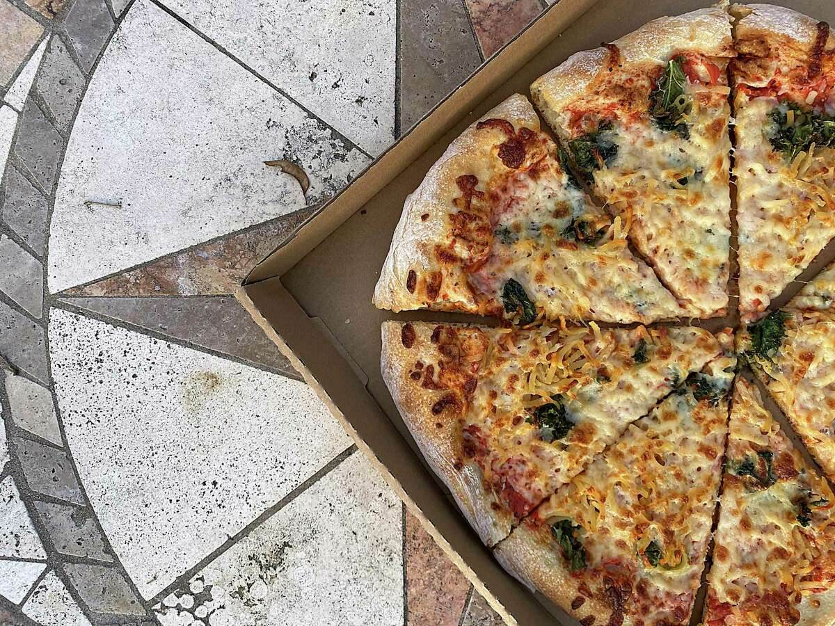The Hash Brown pizza incorporates hash browns, kale, Taleggio cheese and honey at Barbaro, an Italian restaurant, bar and pizzeria in Monte Vista.