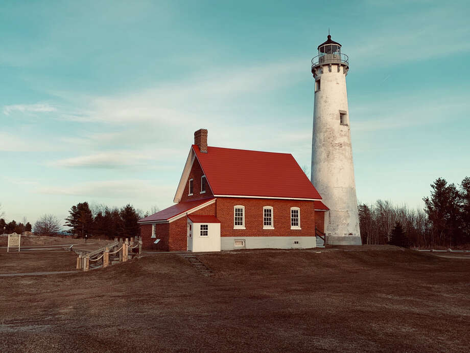 An historic lighthouse is seen at Tawas Point State Park. Photo: Fred Kelly/fred.kelly@mdn.net
