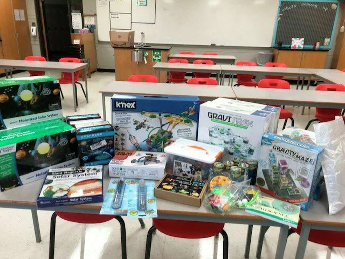 With over $3,000 donated from Cargill and the Osceola Community Foundation, Reed City Middle School teacher Denise Nelson has been able to purchase science equipment for her students this year. Because of new COVID-19 protocol requiring students to have their own equipment, Nelson said additional school supplies has been needed more than ever. (Courtesy photo)