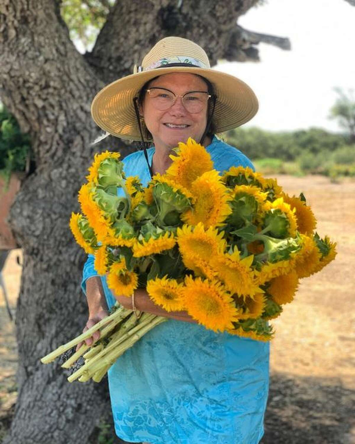 Paul says he has about 100 sunflowers a week. For an additional $35, guests can take home their own bouquet built with flowers picked during their tour.