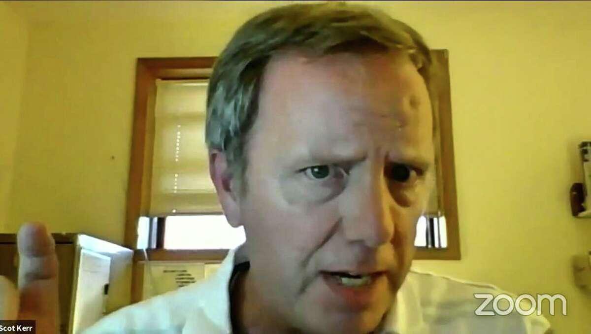 Trumbull Board of Education member Scot Kerr