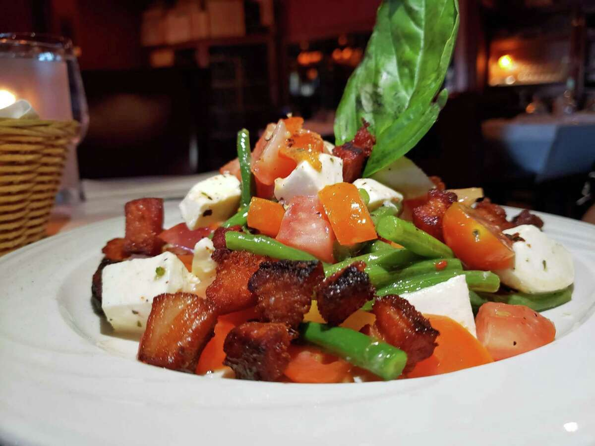 The notable tomato and bacon salad to start at Blackstone's Steakhouse in Norwalk. Blackstone's Steakhouse (locations in Greenwich, Norwalk, Stamford and Westport) 3.5 stars | 123 reviews Address: 28 West Putnam Avenue, Greenwich, CT 06830 203-661-8700 blackstonessteakhouse.com   Trumbull Kitchen, Hartford 4 stars on 641 reviews Address: 150 Trumbull Street, Hartford, CT 06103 860-493-7412 maxrestaurantgroup.com/trumbull