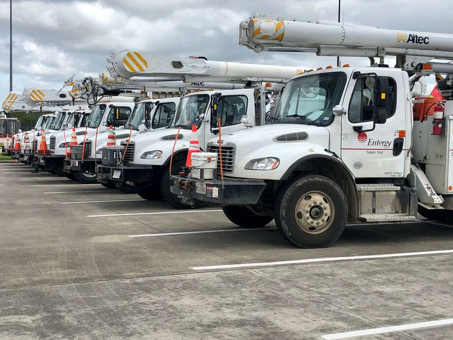 Entergy reported it had around 10,000 workers on hand from 20 states to handle outages across its service area after Hurricane Laura made landfall, but —even with the man power— outages in parts of the storm's initial wake could last for weeks. Photo: Courtesy Of Entergy Texas