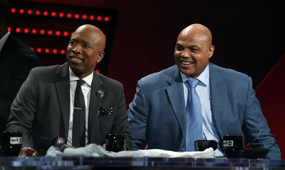 """PHOTOS: A look at all of Houston's sports championships, including two won by Kenny Smith Kenny Smith (left) and Charles Barkley are cornerstones of TNT's """"Inside the NBA"""" show along with Ernie Johnson and Shaquille O'Neal. Photo: Ethan Miller/Getty Images / 2017 Getty Images"""
