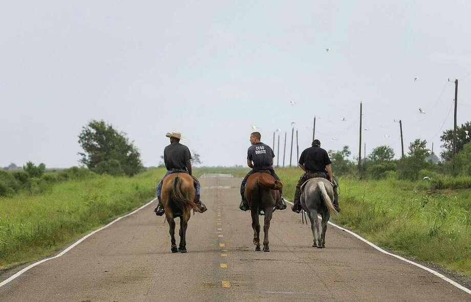 People help move cattle to higher ground ahead of Hurricane Laura on Wednesday, Aug. 26, 2020, near Winnie. Photo: Jon Shapley, Houston Chronicle / Staff Photographer / © 2020 Houston Chronicle