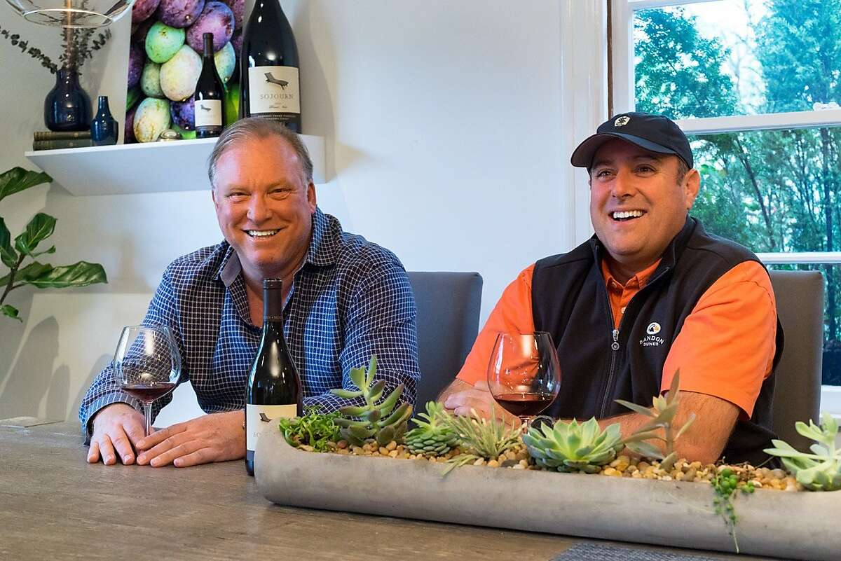 Sojourn Cellars co-founders Craig Haserot (left) and Erich Bradley have merged their winery with Angelina Mondavi's Harrow Cellars.